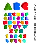 english alphabet. vector... | Shutterstock .eps vector #459784540