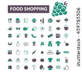 food shopping icons | Shutterstock .eps vector #459785506