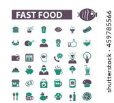 fast food icons | Shutterstock .eps vector #459785566
