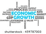a word cloud of economic growth ...   Shutterstock .eps vector #459787003