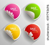 autumn set of stickers. vector... | Shutterstock .eps vector #459793696