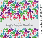 beautiful creative rakhi ... | Shutterstock .eps vector #459801178