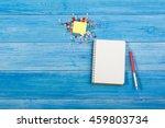 white blank open notepad book... | Shutterstock . vector #459803734