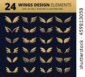 wings. vector set of wing... | Shutterstock .eps vector #459813058