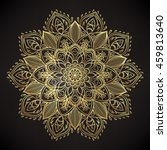 decorative ornate round mandala....