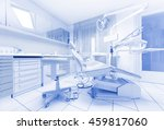dental clinic interior with... | Shutterstock . vector #459817060