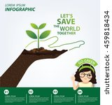 infographic template. ecology... | Shutterstock .eps vector #459818434
