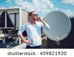 man talking on the phone  the... | Shutterstock . vector #459821920