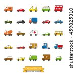 cars  vans and other motor... | Shutterstock .eps vector #459825310
