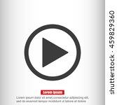 play button web icon | Shutterstock .eps vector #459829360