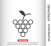 grapes icon  | Shutterstock .eps vector #459829480