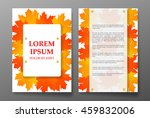 template brochure with foliage... | Shutterstock .eps vector #459832006