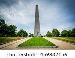 The Bunker Hill Monument, on Bunker Hill, in Charlestown, Boston, Massachusetts.