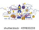 vector illustration flat line... | Shutterstock .eps vector #459833233