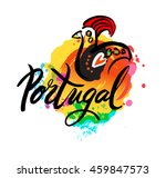 portugal the travel destination ... | Shutterstock .eps vector #459847573