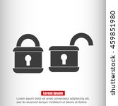 lock vector icon   Shutterstock .eps vector #459851980
