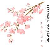 vector illustration. branch of... | Shutterstock .eps vector #459853363