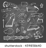 vector hand drawn set on grey... | Shutterstock .eps vector #459858640