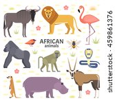 vector illustration of african... | Shutterstock .eps vector #459861376
