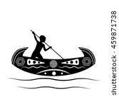 australian aborigine or... | Shutterstock .eps vector #459871738