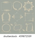 frame vintage classic set style | Shutterstock .eps vector #459872539