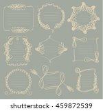 frame vintage classic set style | Shutterstock .eps vector #459872539