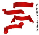 red ribbons set  vector... | Shutterstock .eps vector #459877258