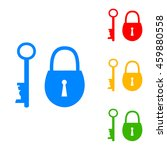 lock and key sign. colorful set ... | Shutterstock .eps vector #459880558