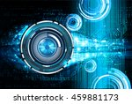 blue eye abstract cyber future... | Shutterstock .eps vector #459881173
