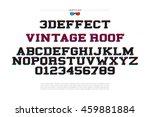 3d illusion alphabet letters... | Shutterstock .eps vector #459881884
