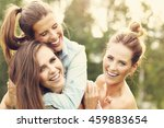 picture presenting happy group... | Shutterstock . vector #459883654