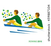 rowing in the colors of the... | Shutterstock .eps vector #459887104