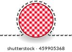 ants around label picnic plaid  | Shutterstock .eps vector #459905368