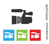 Camcorder Icon. Simple Logo Of...