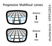 progressive multifocal glasses... | Shutterstock .eps vector #459912814