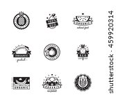 organic product black logo... | Shutterstock .eps vector #459920314
