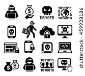 hacker  cyber attack  cyber... | Shutterstock .eps vector #459928186