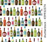 alcohol drinks seamless pattern.... | Shutterstock .eps vector #459932374