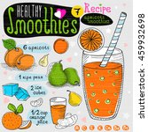 healthy smoothie recipe set.... | Shutterstock .eps vector #459932698