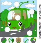 cartoon trolleybus in the... | Shutterstock .eps vector #459933898