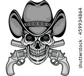 cowboys coat of arms with skull ... | Shutterstock .eps vector #459934864