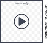 play button web icon  flat... | Shutterstock .eps vector #459937384