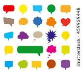 speech bubble icons set | Shutterstock .eps vector #459939448