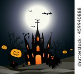 halloween design vector... | Shutterstock .eps vector #459940888