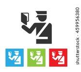 customs officer icon.... | Shutterstock .eps vector #459956380