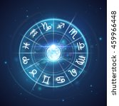 zodiac signs with moon in center | Shutterstock .eps vector #459966448