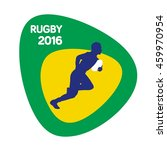 rugby icon  rio icon  vector... | Shutterstock .eps vector #459970954