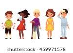 set of sick children cartoon... | Shutterstock .eps vector #459971578