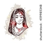 shaadi. indian woman in a... | Shutterstock .eps vector #459985348