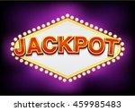 jackpot slot machine title asset | Shutterstock .eps vector #459985483
